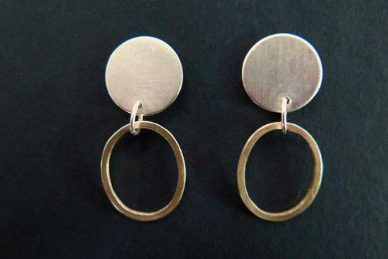 silvercirclesgoldhoops